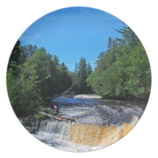 Tahquamenon Lower Falls IV Melamine Plate
