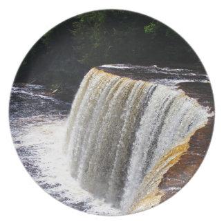 Tahquamenon Upper Falls V Melamine Plate