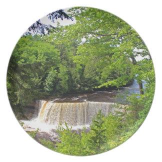 Tahquamenon Upper Falls VI Melamine Plate