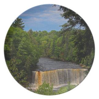 Tahquamenon Upper Falls VII Melamine Plate