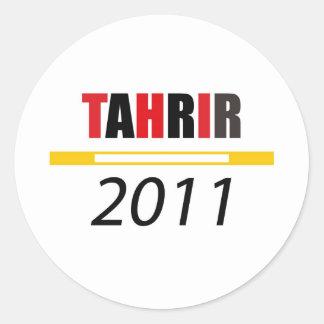 Tahrir 2011 classic round sticker