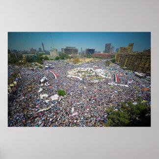 Tahrir Egipto 29 de julio de 2011 cuadrado viernes Póster