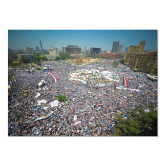 "Tahrir Square Egypt July 29 2011 Friday of Unity 5"" X 7"" Invitation Card"