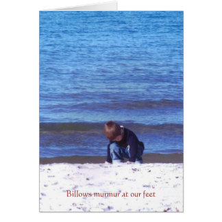 Tai and the Lake, Billows murmur a... - Customized Card