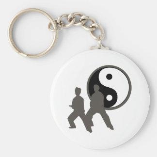 Tai Chi Basic Round Button Keychain