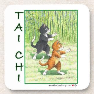 Tai Chi Cat Coaster