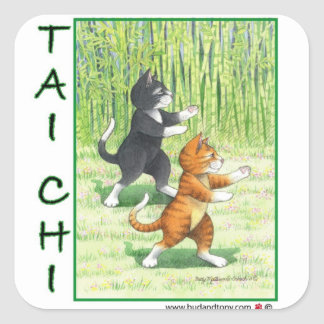 Tai Chi Cats Sticker Bud & Tony
