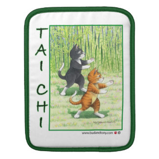 Tai Chi Cats Vertical Rickshaw Sleeve Sleeves For iPads
