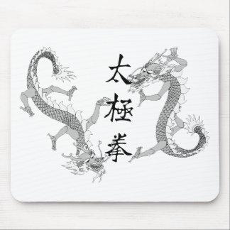 Tai Chi Chuan and Two Dragons Mousepad