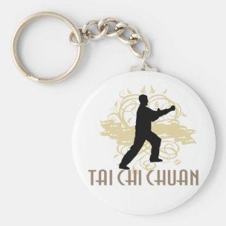 Tai Chi Chuan Basic Round Button Keychain