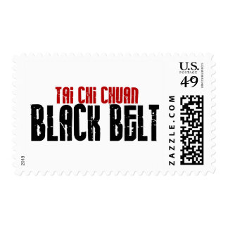 Tai Chi Chuan Black Belt Karate Postage Stamps