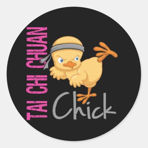 Tai Chi Chuan Chick Stickers
