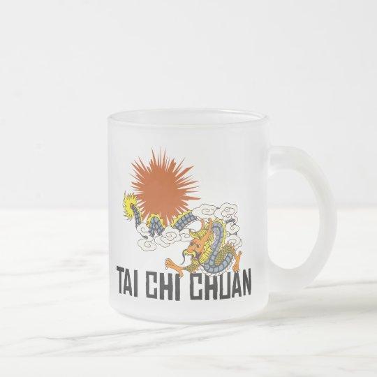 Tai Chi Chuan Frosted Glass Coffee Mug