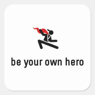 T'ai Chi Chuan Hero Square Sticker