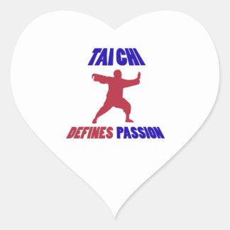 tai chi design heart sticker