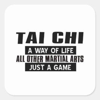 Tai Chi Gifts Square Sticker