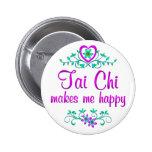 Tai Chi Happy Pinback Button