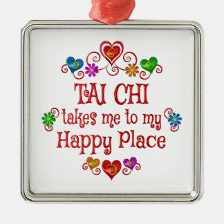 Tai Chi Happy Place Metal Ornament
