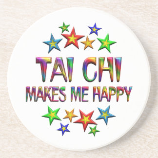 Tai Chi Happy Sandstone Coaster