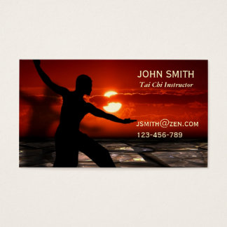 Tai Chi Instructor Martial Arts Business Card