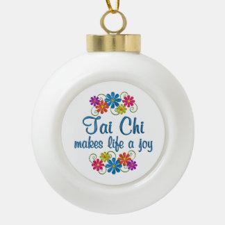 Tai Chi Joy Ceramic Ball Christmas Ornament