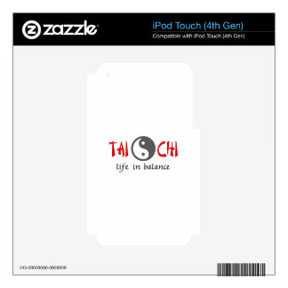 TAI CHI LIFE IN BALANCE SKINS FOR iPod TOUCH 4G