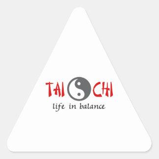 TAI CHI LIFE IN BALANCE TRIANGLE STICKERS