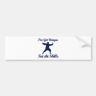 tai chi martial art designs bumper sticker