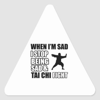 tai chi Martial Arts Gifts Triangle Stickers