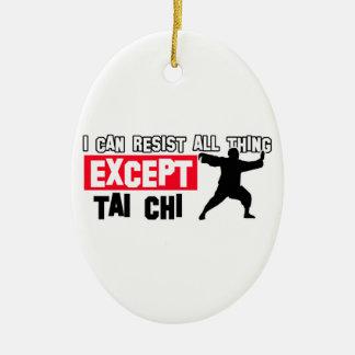 Tai chi martial design christmas ornament
