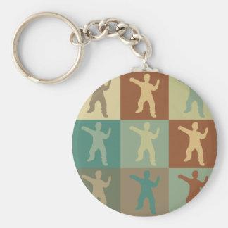 Tai Chi Pop Art Basic Round Button Keychain