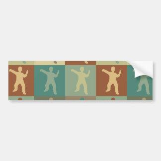 Tai Chi Pop Art Bumper Sticker