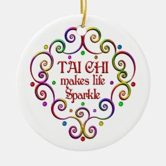Tai Chi Sparkles Ceramic Ornament