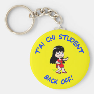 t'ai chi tai je student back off keychain