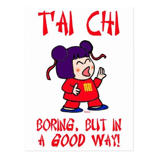 tai chi t'ai ji boring but in a good way cute postcard