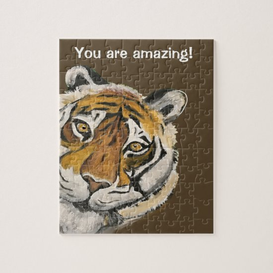 Tai Chi Tiger Amazing Face Template Jigsaw Puzzle