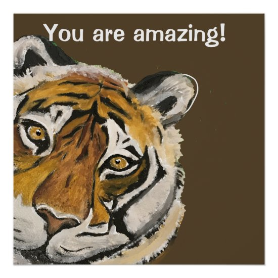 Tai Chi Tiger Amazing Face Template Poster