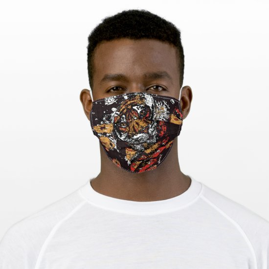 Tai Chi Tiger Iconic Insight Golden Browns Adult Cloth Face Mask