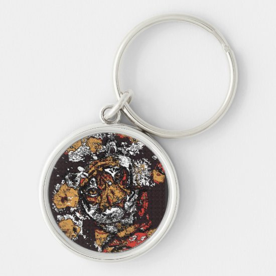 ' Tai Chi Tiger Iconic Insight Golden Browns Keychain