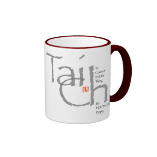 Tai Chi 'To Contain Everything' Graphic Ringer Mug