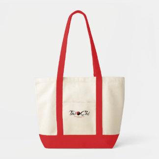 Tai Chi Yin/Yang 'Harmonious Action' Tote Tote Bags
