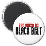 Tai Kwan Do Black Belt Karate 2 Inch Round Magnet
