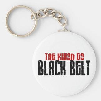 Tai Kwan Do Black Belt Karate Basic Round Button Keychain