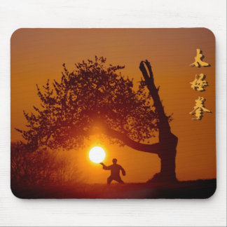 Taichi (taiji), tree cherry tree setting sun mousepads
