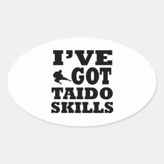 Taido Martial Arts designs Oval Sticker