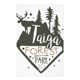 Taiga forest eco park promo sign stationery