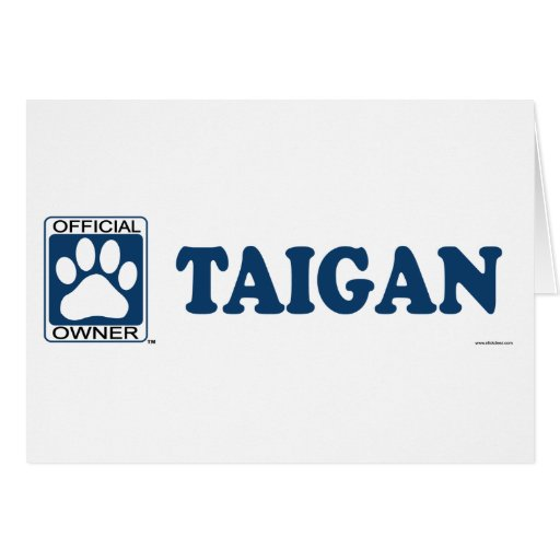 TAIGAN_blue Felicitación