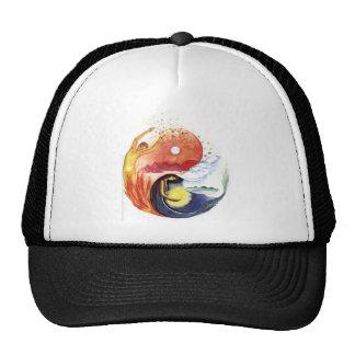 Taijitu illustrating polarity trucker hat