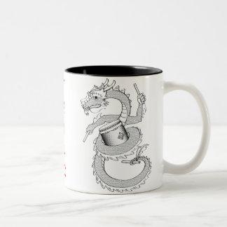 Taiko Dragon in Black & White Coffee Mug