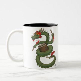 Taiko Dragon in Color Two-Tone Coffee Mug